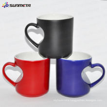 Sublimation Color Changing Mug -Heart Handle Mug